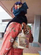 ひいおばあちゃんから受け継いだ帯に合わせてみました!
