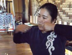 この日は、ミナミナの会・代表の藤戸ひろ子さんによるムックリ(アイヌの口笛)のワークショップが開催された♪