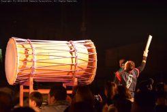 ひときわ大きな太鼓の、力強い音は迫力満点!