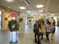 クリスマスリースコンテスト作品展も開催中