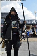 会場には忍者や武士に扮した来場者も見られた