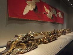 大津祭の「源氏山」の近江八景が描かれた 欄間彫刻