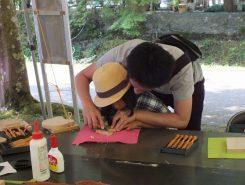 上丹生の伝統工芸の木彫りも体験無料