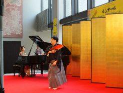 守山市民ホールのキオスクで開催された「能の舞とジャズピアノのコラボレーション