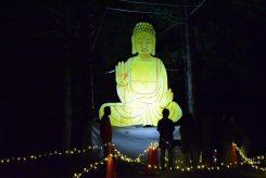 子ども達が思いを込めて作った大仏像