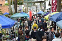 新宮神社では毎月恒例の「げなげな市」も開催されていた