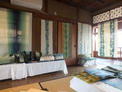 2階に展示されているのは竹の糸を使った作品