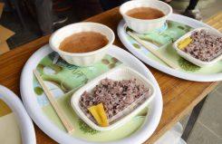 甲南町名物、忍者鍋と黒影ごはんの昼食