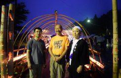 左から岸上崇さん、里見淳さん、田村勝也さん。中心となってイベントを支えている。輝く笑顔が印象的だった