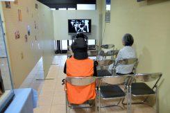 ビデオコーナーは隠れ家のアンネの部屋と同じ広さにしてあり、部屋の広さを体験出来る