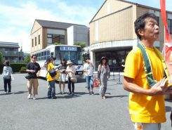 JR甲西駅と市役所から、シャトルバスを順次運行