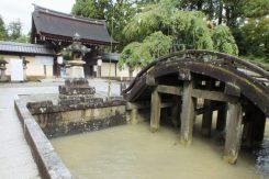 台風の影響で川も濁っていた
