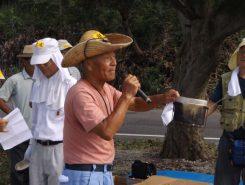 中江会長による開会あいさつ。「お父さん、上手にお米を炊いて下さいよ!」と責任重大だ