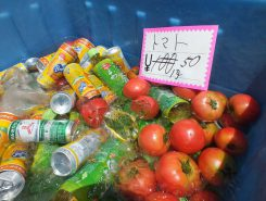 キラキラの朝採れのトマトが美味しそう
