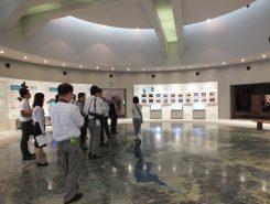 リニューアルされたC展示室の入口。琵琶湖の歴史や形状、水質など詳しく紹介。クイズコーナーもある