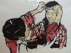 人物や曳山をモチーフにした中村さんの作品