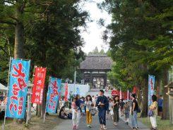 甲賀市甲南町森尻の矢川神社で毎年恒例の七夕まつりが行われた