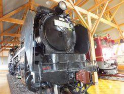 北陸線電化記念館にはD51形793号 蒸気機関車