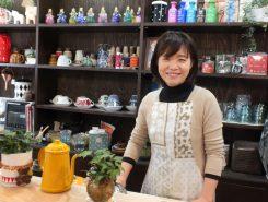 オーナーの伊崎陽子さん。「家事が楽しくなるアイテムを揃えています」