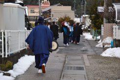 毎年2月15日は北之庄町に朝からお囃子の音が鳴り響く