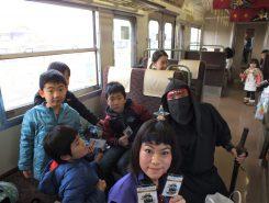 列車内は親子連れでいっぱい!とってもにぎやか