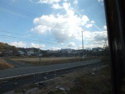 車窓からの風景。あそこにも忍者が!
