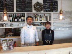 左からオーナーシェフの島田大輔(しまだだいすけ)さんと奥さまの友紀菜(ゆきな)さん