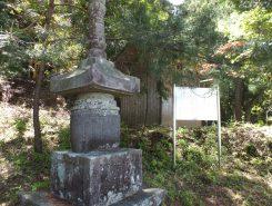 鎌倉時代に建てられた石造宝塔(国の重要文化財)