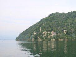 竹生島が見えてきた