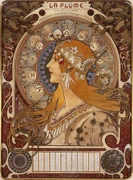 ③_《黄道十二宮 ラ・プリュム誌のカレンダー》1896年 OZAWAコレクション