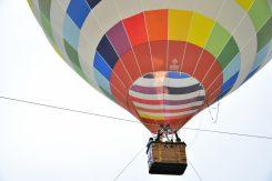 気球の内部は約100度!