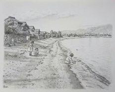 浜で遊ぶ (高島市今津町今津)