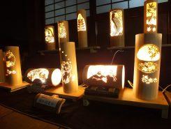 竹細工の灯り