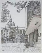 県庁と滋賀会館 (大津市京町3丁目)
