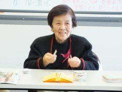 草川先生は90歳!レクリエーション講習の経験は50年以上。近年は特に認知症予防のレクリエーションを広める活動をしている