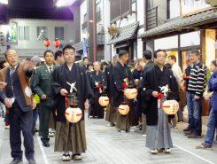 左から三日月大造知事、藤井勇治市長