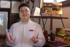 「みんなの奥永源寺」代表の前川さんムラサキの根「紫根」からシコンコスメを開発