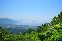 赤坂平高原から琵琶湖を望む