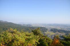 展望台からは甲賀市の街が一望できる