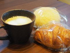 パンとコーヒーで一休み♪