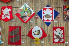 凧職人や愛好家らが表現した「亥」の凧