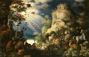 【6】ルーラント・サーフェリー《動物に音楽を奏でるオルフェウス》(プラハ国立美術館)