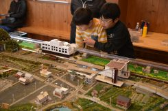 JR安土駅を中心としたジオラマ