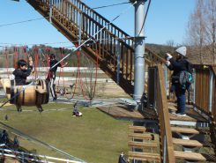 展望台への階段がおすすめの撮影スポット