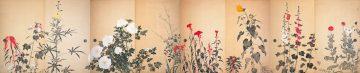 ⑥《四季草花図》1930年頃_大島紬美術館蔵