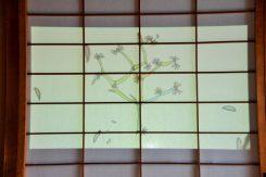 会場に絵も展示されている、木本博俊さんの作品を題材に制作された映像展示