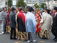 男性陣も負けてません!紋付袴も色々な柄があってとても華やか