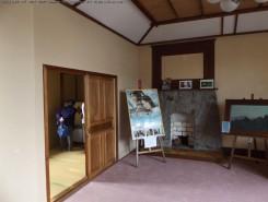画家で安土村長でもあった伊庭慎吉氏のアトリエだった2階部屋。父は旧住友財閥の総理事伊庭貞剛