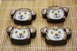 そろそろ巻き寿司が完成!食べるのが勿体ないくらいに可愛い