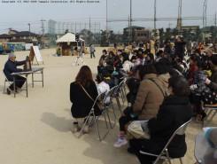多くの人々がイベントに参加した(ご当地キャラクイズなど他にも ステージ発表が開催された)